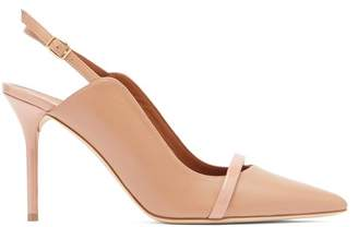 Malone Souliers By Roy Luwolt - Marion Leather Slingback Mules - Womens - Nude