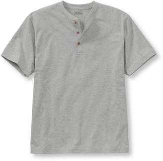 L.L. Bean L.L.Bean Carefree Unshrinkable Tee,Traditional Fit Short-Sleeve Henley