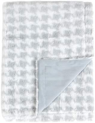 Tadpoles Houndstooth Minky Blanket