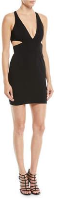 Jay Godfrey Krooger Mini Dress w/ Cutout Back