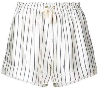 Monse Tie Waist Striped Shorts