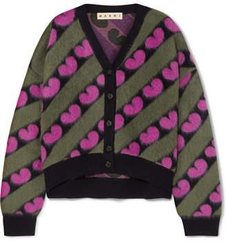 Marni Intarsia Knitted Cardigan - Pink