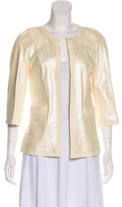Chanel Lambskin Open Front Jacket