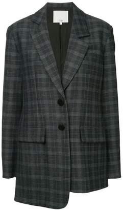 Tibi asymmetric plaid blazer