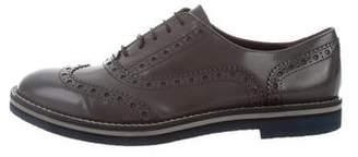 AGL Metallic Leather Oxfords