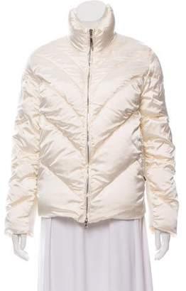 Post Card Short Satin Puffer Coat