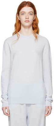 Jil Sander Blue Cashmere Crewneck Sweater
