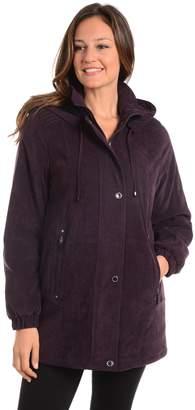 Fleet Street Women's Hooded Faux-Suede Jacket