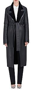 The Row Women's Cintry Shearling Duster Coat - Navy