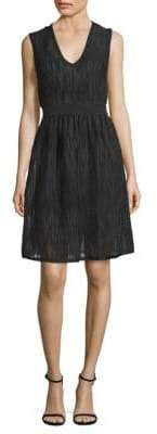 M Missoni Rib-Stitch Mesh Fit-&-Flare Dress