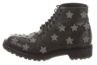 Saint Laurent Star Combat Ankle Boots
