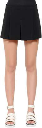 RED Valentino Pleated Cady Shorts