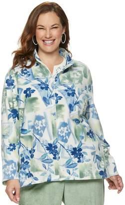 Alfred Dunner Plus Size Studio Floral Fleece Jacket