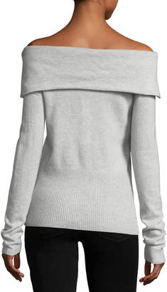 Christopher Fischer Cashmere Off-the-Shoulder Sweater