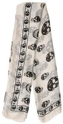 Alexander McQueen Skull Print Silk Scarf