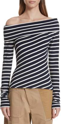 Monse Stripe Off the Shoulder Top