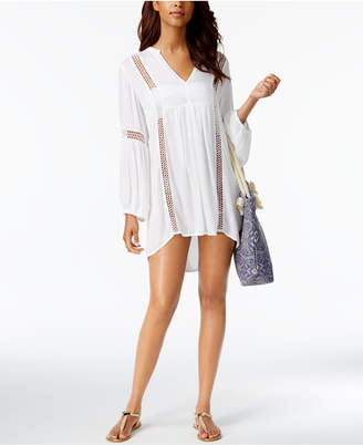 Raviya Eyelet-Trim Tunic Cover-Up Women's Swimsuit $54 thestylecure.com