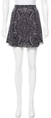 Haute Hippie Silk Paisley Print Skirt w/ Tags