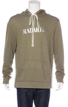 Rodarte Metallic Logo Hoodie