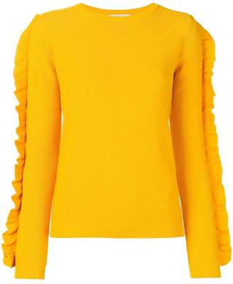 Max Mara frill sleeve knitted jumper