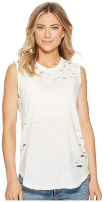 Alternative Super Distressed Sleeveless Tee Women's T Shirt