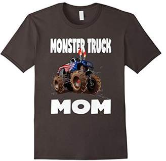 Monster Truck Mom Vintage Mothers American USA Moms T-Shirt
