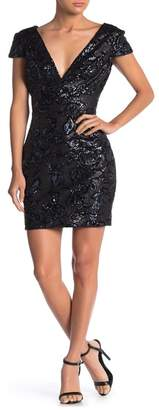 Dress the Population Bree Sequined Cap Sleeve Mini Dress