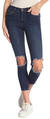 Free People Busted Knee Skinny Crop Jeans