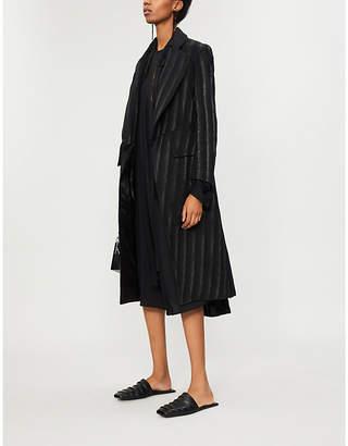 Ann Demeulemeester Striped wool-blend coat
