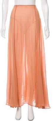 Reformation Semi-Sheer Maxi Skirt