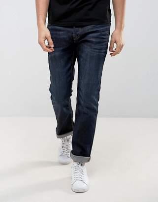 Jack and Jones Intelligence Dark Wash Jeans in Regular Fit