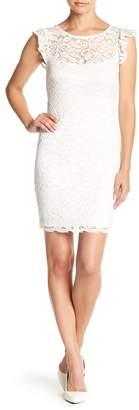 Jump Flutter Sleeve Lace Dress