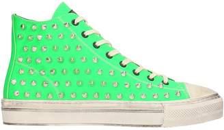 Gienchi J.michel Grren Rubber Sneakers