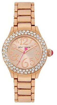 Betsey Johnson (ベッツィ ジョンソン) - Betsey Johnson MiniローズゴールドTone Boyfriend Crystal Accentクオーツ時計bj00291 – 03