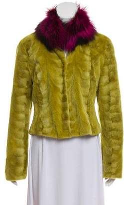 Sheared Mink Fur Long Sleeve Jacket