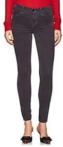 J Brand Women's 815 Velvet Mid-Rise Super Skinny Jeans - Gray