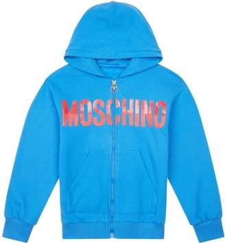 Moschino Logo Zip Up Hoodie