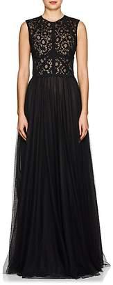 Sophia Kah Women's Floral Lace & Mesh Gown