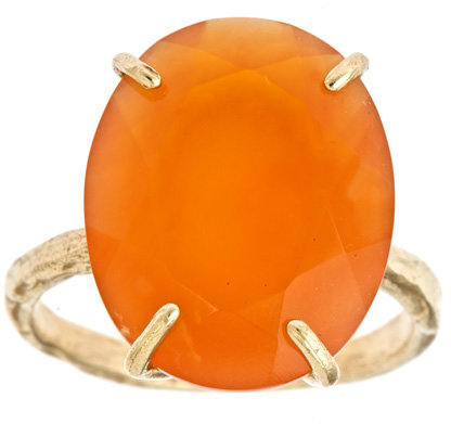 Raw Jewelry by JLRicci Oval Carnelian Cocktail Ring