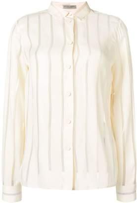 Bottega Veneta sheer striped shirt