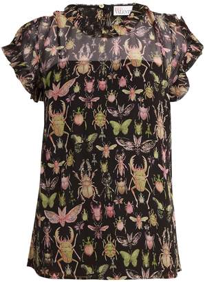 Red Valentino scalloped trim sheer shirt Discount For Cheap Visa Payment For Sale Ebay Cheap Price Amazon Online LXCxsCHQ