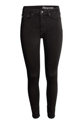 H&M Shaping Skinny High Jeans - Black/No fade black - Women