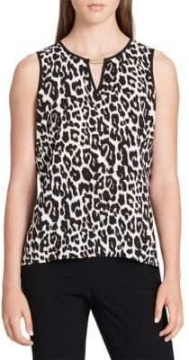 Calvin Klein Leopard Print Top