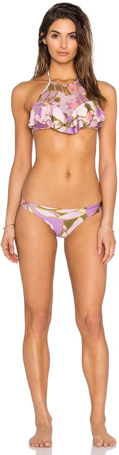Zimmermann Lotte Frill Halter Bikini Set