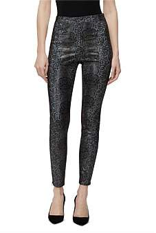 J Brand Darcy Pull On Leather Zip Skinny Jean