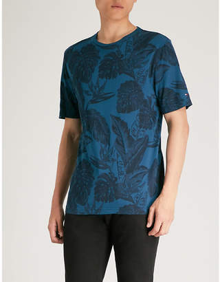 Tommy Hilfiger Leaves-print cotton-jersey T-shirt