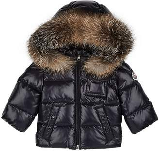 6e80b9511 sleek ceab3 a3557 moncler kids fur trimmed padded coat ...