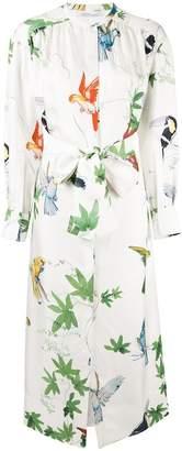 Agnona jungle print shirt dress