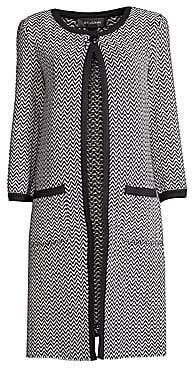 St. John Women's Mod Herringbone Knit Coat