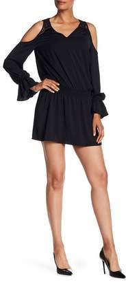 Ramy Brook Abigail Lace Knit Cold Shoulder Dress